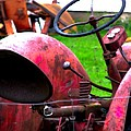 Red Tractor Rural Photography by Laura  Carter