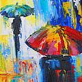Red Umbrella by Susi Franco