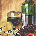 Red Wine And Cheese by Debbie DeWitt