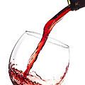 Red Wine Pouring Into Wineglass Splash by Dustin K Ryan