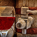 Red Wine With Tapped Keg by Tom Mc Nemar