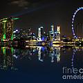 Reflections At Marina Bay by Jenny Zhang