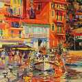 Reflections - Villefranche by Peter Graham