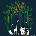 Repaint the forest Print by Budi Kwan