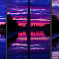 Repairing The Monument Triptych Print by Metro DC Photography