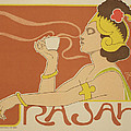 Reproduction Of A Poster Advertising The 'cafe Rajah' by Henri Georges Jean Isidore
