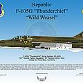 Republic F-105g Thunderchief by Arthur Eggers