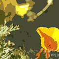 Retro Abstract Poppies 4 by Artist and Photographer Laura Wrede