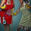 Retro Housewives II Print by Erik Brede
