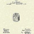 Revolver Cylinder 1876 Patent Art by Prior Art Design