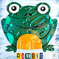 Ribbit The Frog License Plate Art by Design Turnpike