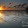 Ripples On The Beach by Mike  Dawson