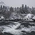 Riverfront Park Winter Storm - Spokane Washington by Daniel Hagerman