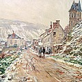 Road In Vetheuil In Winter by Claude Monet