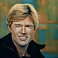 Robert Redford Print by Paul  Meijering