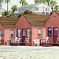 Robert's Cottages Oceanside by Mary Helmreich