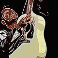 Rockabilly electric guitar player  Print by Toppart Sweden