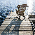 Rocking Chair On Dock by Elena Elisseeva