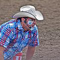 Rodeo Clown Cowboy In Dust by Valerie Garner