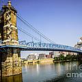 Roebling Bridge In Cincinnati Ohio by Paul Velgos