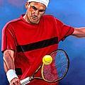 Roger Federer 2 Print by Paul  Meijering