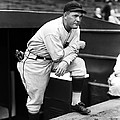 Rogers Hornsby Leaning On One Knee by Retro Images Archive