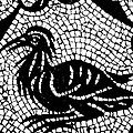 Roman Mosaic Bird by Mair Hunt
