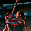 Ronaldinho And Eto'o by Paul Meijering