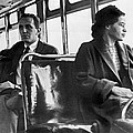 Rosa Parks On Bus by Underwood Archives