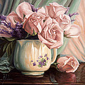 Rose Roses by Lucie Bilodeau