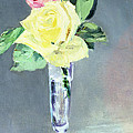 Roses In A Champagne Glass by Edouard Manet