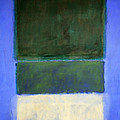Rothko's No. 14 -- White And Greens In Blue Print by Cora Wandel