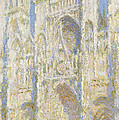 Rouen Cathedral West Facade Print by Claude Monet