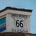 Route 66 - End Of The Trail by Kim Hojnacki