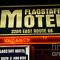 Route 66 Flagstaff Motel by Bob Christopher