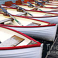 Rowboats Print by Elena Elisseeva