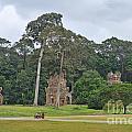 Ruins And Tourists At Angkor Wat by Sami Sarkis