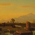 Ruins Of Paestum by Albert Bierstadt