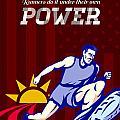 Runner Running Power Poster by Aloysius Patrimonio