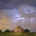 Rural Country Cabin Lightning Storm by James BO  Insogna