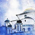 Russian Church In A Blue Cloud by Sarah Loft