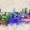 Sacramento City Skyline by Aged Pixel
