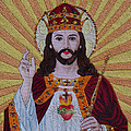 Sacred Heart Of Jesus Hand Embroidery by To-Tam Gerwe