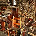 Saddle And Piano by Marty Koch