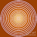 Saffron Colored Abstract Circles by Frank Tschakert