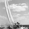 Sailboat Charging The Waves by Retro Images Archive