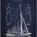 Sailboat Patent Drawing From 1927 by Aged Pixel