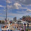 Sailboats In Constitution Marina - Boston by Joann Vitali