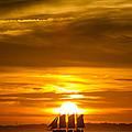 Sailing Yacht Schooner Pride Sunset by Dustin K Ryan