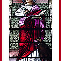 Saint John the Evangelist Stained Glass Window Print by Rose Santuci-Sofranko